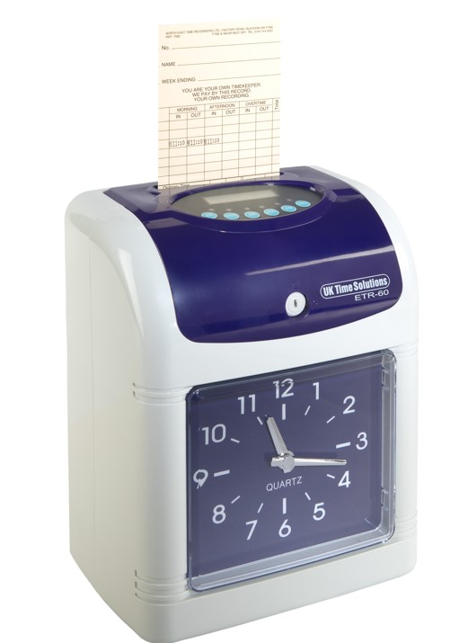 ETR-60 Electronic Clocking In Machine (Monthly Time Card)